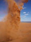 沙尘暴在沙漠 库存照片