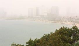 沙尘暴在特拉维夫 库存图片