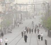 沙尘暴在耶路撒冷 免版税库存图片