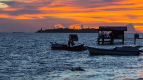 沙巴美人鱼海岛 库存照片