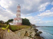 沙布拉灯塔在保加利亚 免版税库存照片