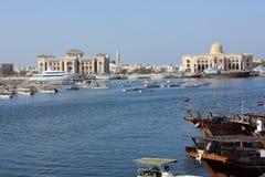沙扎口岸,阿拉伯联合酋长国 库存照片