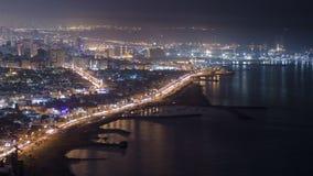 沙扎海岸线全景从阿吉曼的 影视素材