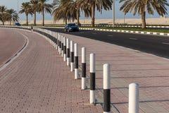 沙扎阿拉伯联合酋长国的江边的全视图 库存图片
