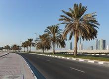 沙扎阿拉伯联合酋长国的江边的看法 免版税图库摄影