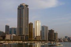 沙扎,阿联酋的看法 库存照片