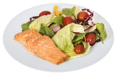 沙拉三文鱼枯萎了 免版税库存图片