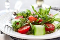 沙拉三文鱼蔬菜 免版税库存图片