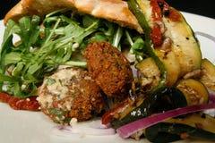 沙拉三明治美食 免版税库存图片