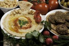 沙拉三明治腐植质 免版税库存图片