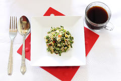 沙拉午餐菜单 库存照片