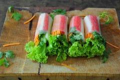 沙拉卷菜 库存图片