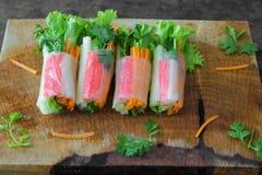 沙拉卷菜 库存照片