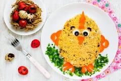 沙拉复活节鸡 免版税库存照片