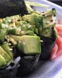 沙拉小船寿司 免版税图库摄影
