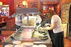 沙拉柜台 库存照片