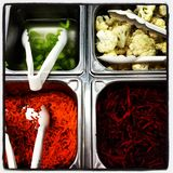 沙拉柜台 免版税库存图片