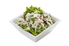 沙拉用圆白菜、火腿和绿色 库存照片