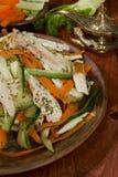 沙拉用火鸡茴香和杏仁 免版税库存图片