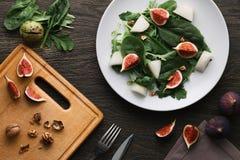 沙拉用瓜和无花果 库存图片