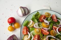 沙拉用红色和黄色蕃茄 库存图片
