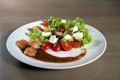 沙拉用肉 免版税库存照片