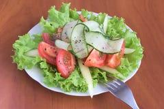 沙拉用蕃茄和黄瓜 库存图片