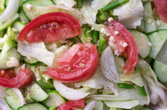沙拉用蕃茄,圆白菜,黄瓜 免版税库存图片