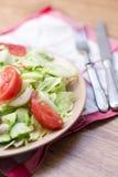 沙拉用蕃茄,圆白菜,黄瓜 图库摄影