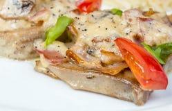 沙拉用蘑菇、调味汁和菜 库存图片