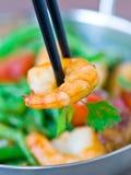 沙拉用虾 免版税库存图片