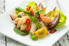 沙拉用虾 免版税库存照片