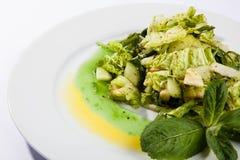 沙拉用黄瓜和三文鱼 库存图片