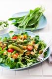 沙拉用绿色芦笋 库存图片