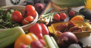 沙拉的新鲜,健康,有机成份 免版税库存图片
