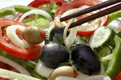 沙拉素食主义者 图库摄影