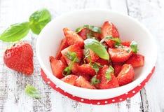 沙拉草莓 库存照片