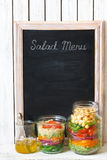 沙拉菜单 库存图片
