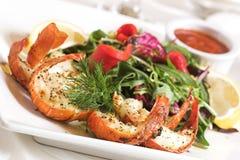 沙拉虾 免版税库存照片
