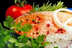 沙拉saumon 库存照片