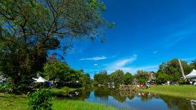 沙捞越文化村庄在马来西亚 库存照片
