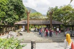 沙捞越文化村庄,婆罗洲 图库摄影