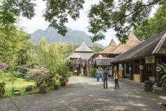 沙捞越文化村庄,婆罗洲 库存照片