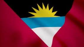 沙文主义情绪的安提瓜和巴布达 安提瓜岛背景旗子  皇族释放例证