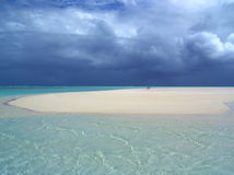 沙洲风暴 库存图片