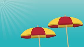 沙滩伞打开HD定义 库存例证