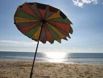 沙滩伞 免版税图库摄影