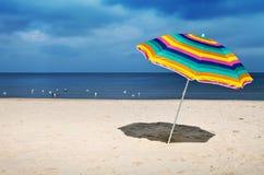 沙滩伞 免版税库存图片