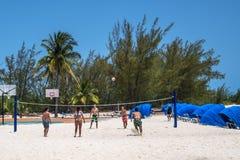 沙滩排球巴哈马 库存照片