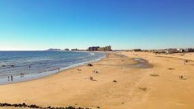 沙滩,岩石点,墨西哥 免版税库存照片